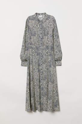 H&M Calf-length Shirt Dress - Blue