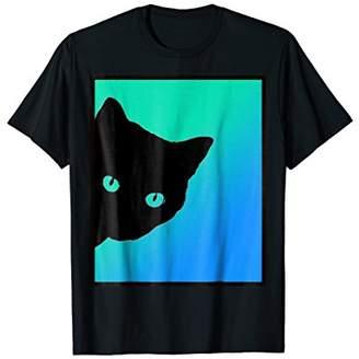 Cat Blue Green T Shirt Designed By Cats Made Better