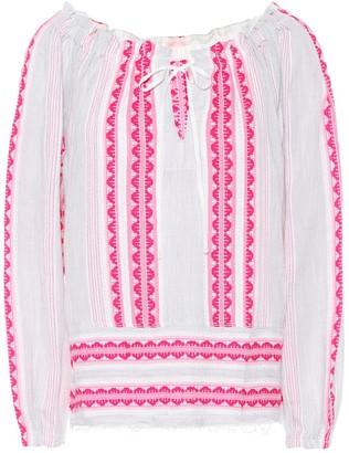 Lemlem Riban striped cotton-blend blouse
