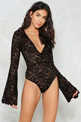 Nasty Gal Time to Lace the Music Plunging Bodysuit