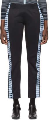 Wales Bonner Black Palms Check Stripe Lounge Pants