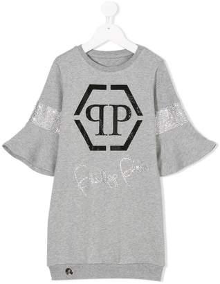 Philipp Plein Junior embellished sweatshirt dress