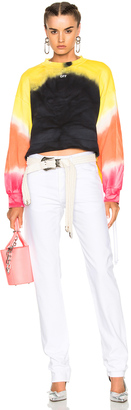 OFF-WHITE Tie Dye Crewneck Sweatshirt $940 thestylecure.com