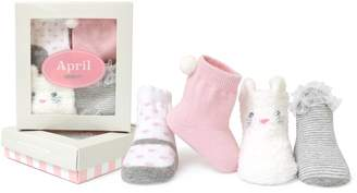 Trumpette Baby Girls Sock Set-4 Pairs, April's-Assorted Pastels