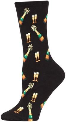 Hot Sox Women's Novelty Champagne Bottles Socks