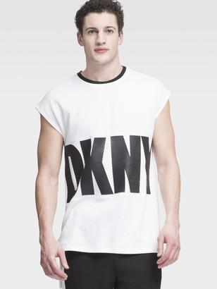 DKNY Mesh Logo Muscle Tee