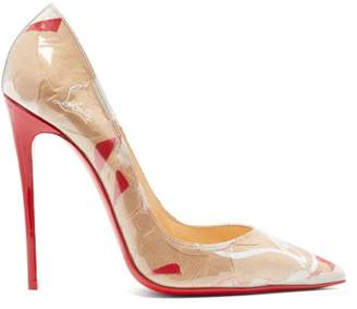 Christian Louboutin So Kate Louis Kraft 120 Pumps - Womens - Brown Multi