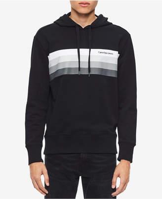 Calvin Klein Jeans Men's Striped Chest Hoodie