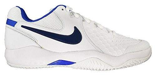 Nike Men's Air Zoom Resistance Tennis Shoe (9.5 D(M) US, White/Binary Blue/Mega Blue)