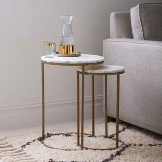 west elm Marble Round Nesting Side Table (Set of 2)