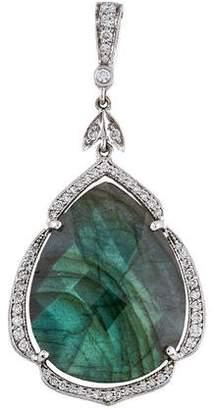 Penny Preville 18K Labradorite & Diamond Pendant