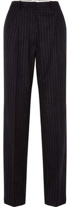 Hillier Bartley - Pinstriped Wool Trousers - Black