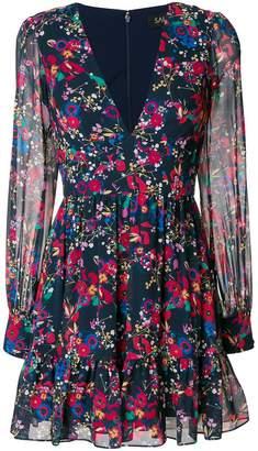 Saloni short floral print dress