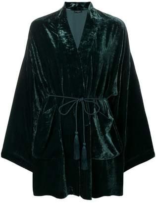 Antonelli rope belt velour kimono