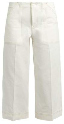 Acne Studios Texel Cropped Wide Leg Jeans - Womens - White