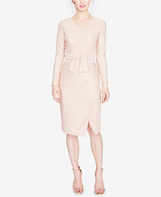 Rachel Roy Metallic Self-Tie Wrap Dress