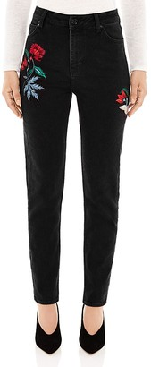Sandro Maceoplex Embroidered Jeans in Black $325 thestylecure.com