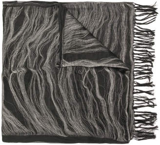 Yohji Yamamoto fringe scarf