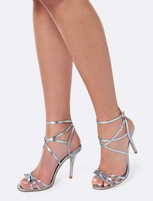 b7f6eacdd04 at Forever New Forever New Olena Slim Bow Strappy Sandals - Light Blue - 39