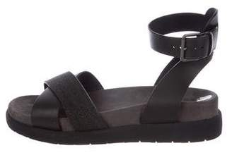 Brunello Cucinelli Monili Ankle-Strap Sandals