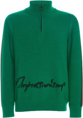 Off-White Zip Turtleneck Sweater