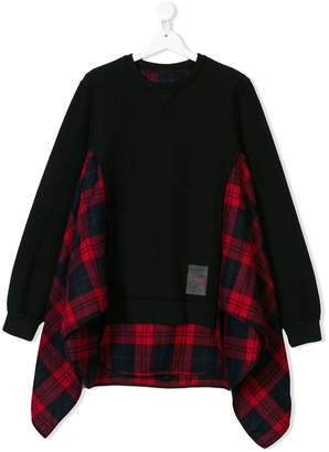 DSQUARED2 plaid insert swing sweatshirt