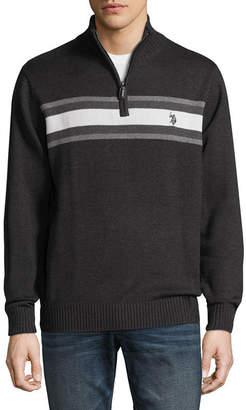 U.S. Polo Assn. USPA Mock Neck Long Sleeve Jersey Pullover Sweater