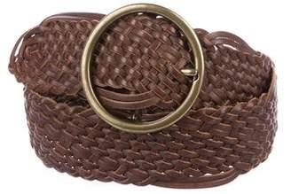 Linea Pelle Braided Leather Belt