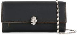 Alexander McQueen Leather Skull Wallet On Chain
