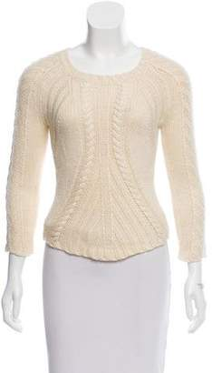 Reed Krakoff Cable-Knit Crew Neck Sweater
