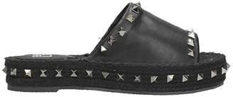 Bibi Lou Flat Sandals In Black Leather