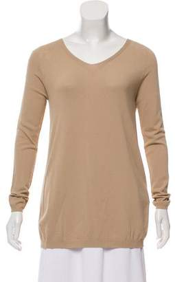 D-Exterior D. Exterior Long Sleeve Scoop Neck Sweater