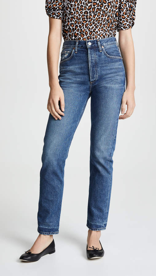Charlotte Crop High Rise Straight Jeans