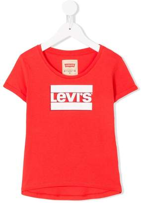 Levi's Kids shadow logo print T-shirt