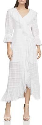 BCBGMAXAZRIA Cheryl Plaid Midi Wrap Dress