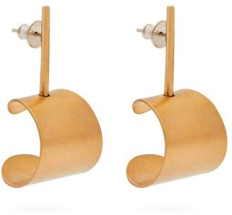 Fay Andrada - Tappi Small Brass Drop Earrings - Womens - Gold