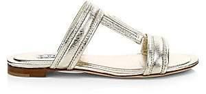 Tod's Women's Metallic Leather Mule Sandals