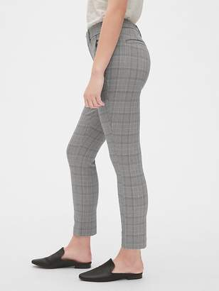 Gap Plaid Curvy Skinny Ankle Pants with Secret Smoothing Pockets