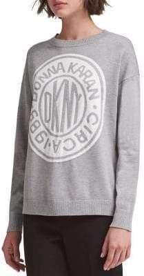 DKNY Contrast Logo Pullover