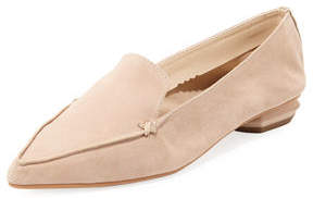Neiman Marcus Kiki Pointed-Toe Suede Loafer