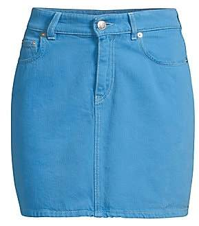 Ganni Women's Washed Denim Skirt