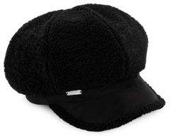 Steve Madden Faux Sherpa & Faux Suede Baker Hat