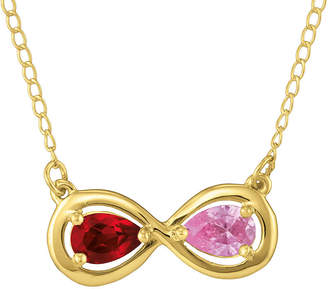 JCPenney FINE JEWELRY Personalized Infinity Symbol Birthstone Necklace