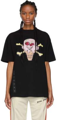 Palm Angels Black ICECREAM Edition Skull T-Shirt