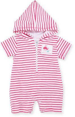 Kissy Kissy Deep Sea Delight Striped Terry Shortall, Size 3-18 Months $45 thestylecure.com