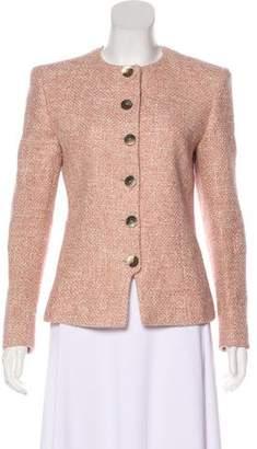Valentino Button-Up Tweed Jacket