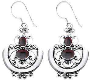 "Novica Artisan Crafted ""Sterling Arabesque"" Earrings"