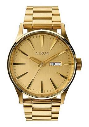 Nixon Sentry SS A356502-00. All Gold Men's Watch (42mm Gold Watch Case. 23-20mm Gold Stainless Steel Band)