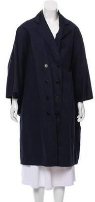 Tess Giberson Longline Button-Up Jacket Navy Longline Button-Up Jacket