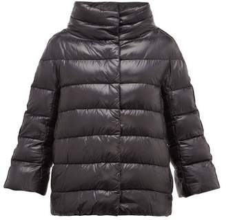 Herno Velvet Stripe Quilted Down Jacket - Womens - Black
